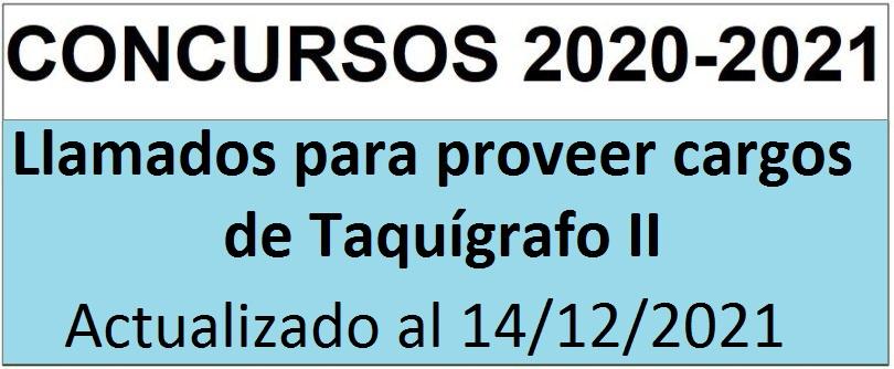 CONCURSO TAQUIGRAFIA 2020 - Taquígrafo II